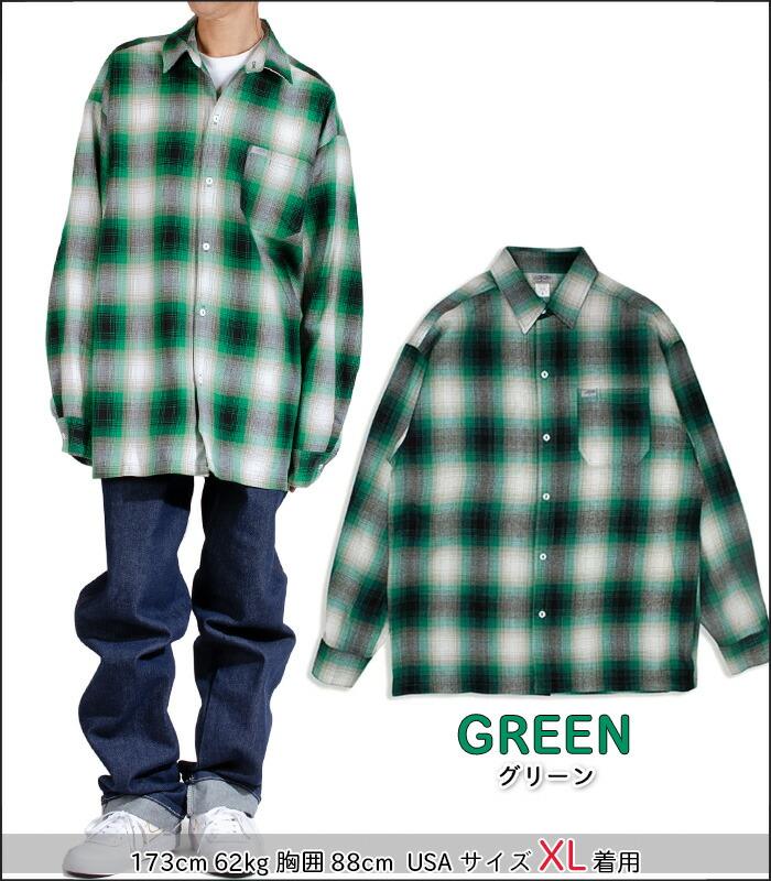 キャルトップ CALTOP #2000LS オンブレ チェック 長袖 フランネル シャツ メンズ S-XXXL 米国製 アメリカ製 父の日 プレゼント