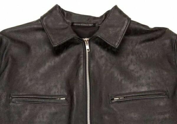 【SALE】ヨウジヤマモト ファムYohji Yamamoto FEMME レザージャケットデザインコート 黒、茶S
