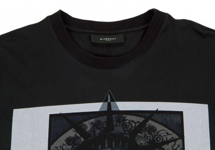 ジバンシィGIVENCHY 13SSプリントTシャツ 黒L