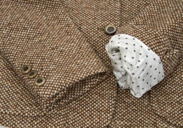 マックスマーラMax Mara WEEKEND LINE フリルラペルデザインウールジャケット 茶38