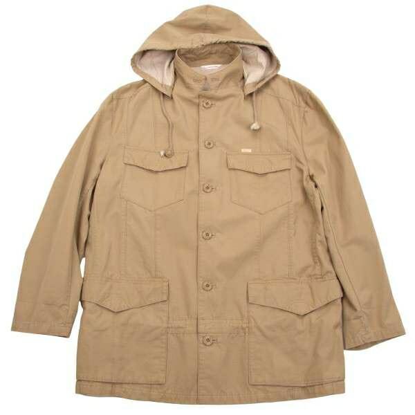 パパスPapas コットンM-65ジャケット ベージュM位