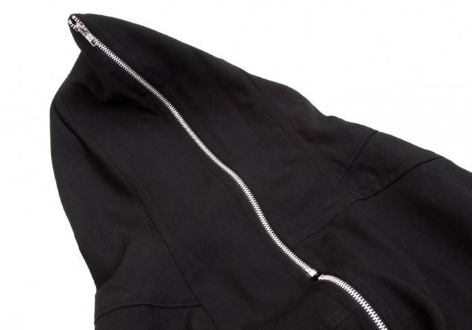コムデギャルソンCOMME des GARCONS ウールサークルジップポンチョ 黒-