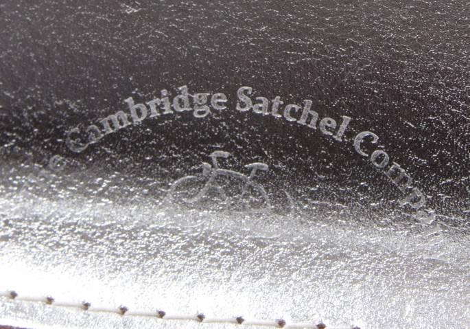 コムコム コムデギャルソン×ケンブリッジ・サッチェル・カンパニー COMME des GARCONS×The Cambridge Satchel Company シルバーレザーバッグ シルバー