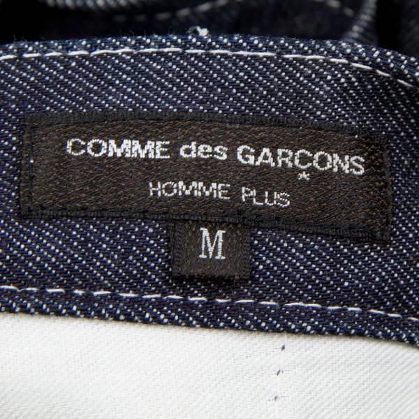 コムデギャルソンオムプリュスCOMME des GARCONS HOMME PLUS 裾ペイント花柄デニム インディゴブルーM