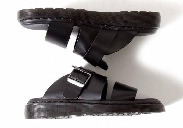 ドクターマーチンDr. Martens Brelade Buckle Slideレザーサンダル 黒24.5(UK6)