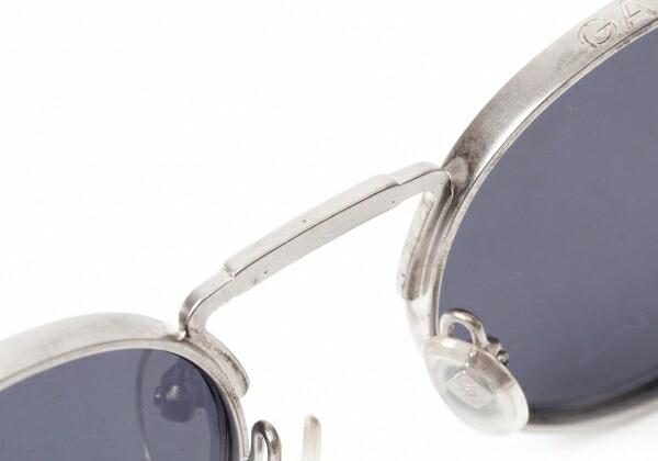 ジャンポールゴルチエJean Paul GAULTIER 56−8171 ラウンドバネデザインサングラス レンズ黒 シルバー49□18 130