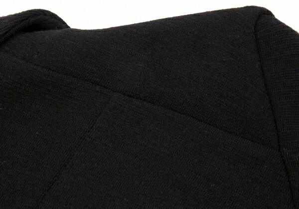 コムコム コムデギャルソンCOMME des GARCONS ウールストレッチ斜行デザインライダースジャケット 黒S