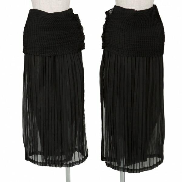イッセイミヤケ フェット ISSEY MIYAKE FETE プリーツデザインスカート 黒2