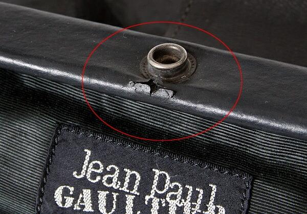 ジャンポールゴルチエオムJean Paul GAULTIER HOMME ビニールハンドバッグ 黒