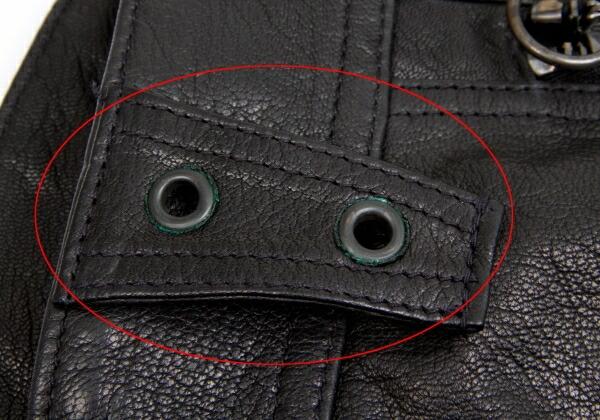 エンポリオ アルマーニEMPORIO ARMANI 本革バイカーパンツ 黒54