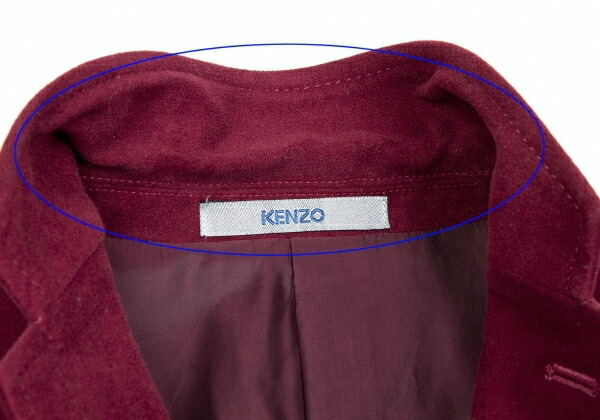 ケンゾーKENZO フェイクスウェード3Bジャケット ワイン2