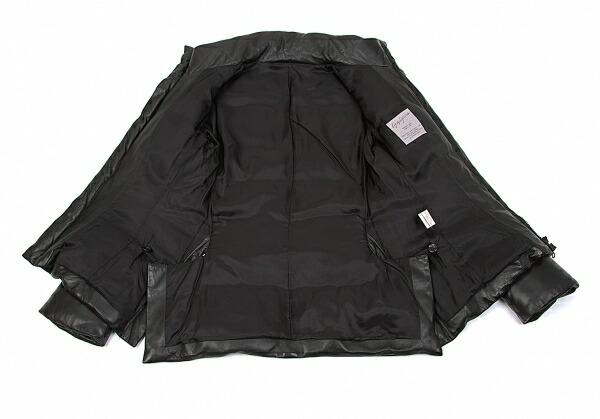 ヨウジヤマモト ファムYohji Yamamoto FEMME ラムレザーダウンジャケット 黒2