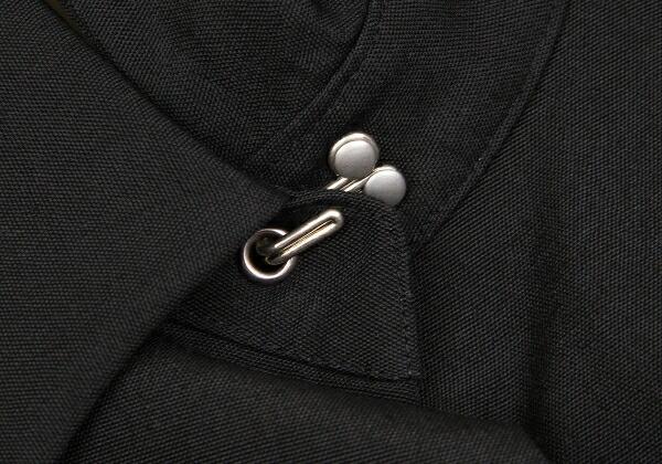 ジャンポールゴルチエ ファムJean Paul GAULTIER FEMME ホック留めデザインコート 黒カーキ40
