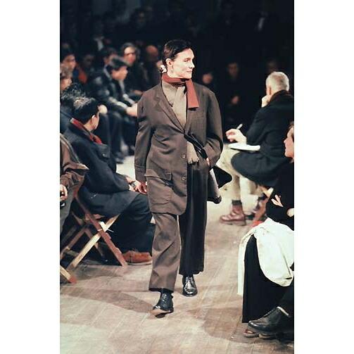 ヨウジヤマモト プールオム Yohji Yamamoto POUR HOMME 製品染めウールギャバセットアップスーツ 茶M/XL