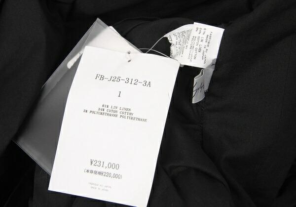 新品!ヨウジヤマモト ファム Yohji Yamamoto FEMME フリルデザインロングボレロ 黒1