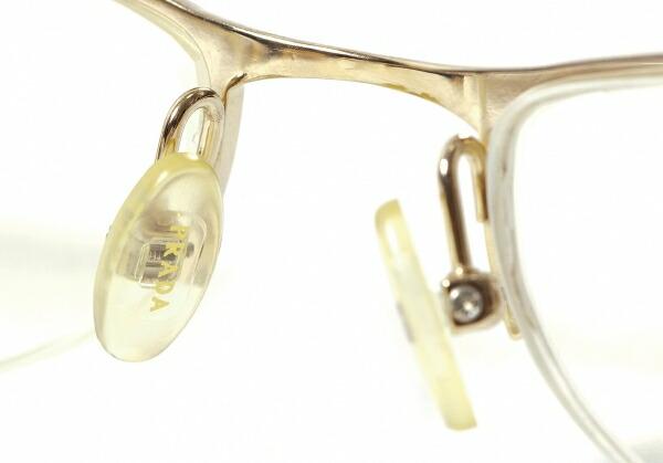 プラダPRADA VPR 57D 5AK-101 ナイロールメガネ眼鏡 度入りクリアレンズ ゴールド52□18 135