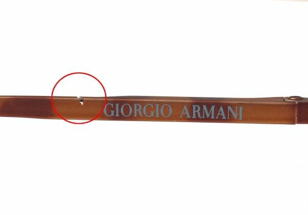ジョルジオ アルマーニGIORGIO ARMANI 122 727 メガネ眼鏡 度入りクリアレンズ 茶47□21 140