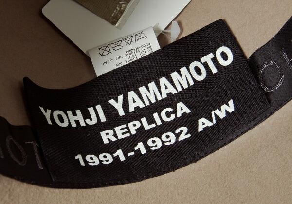 新品!ヨウジヤマモト プールオム  レプリカ 1991AW Yohji Yamamoto POUR HOMME REPLICA 1991-1992A/W ワイヤー入りラビットファーハット ベージュF