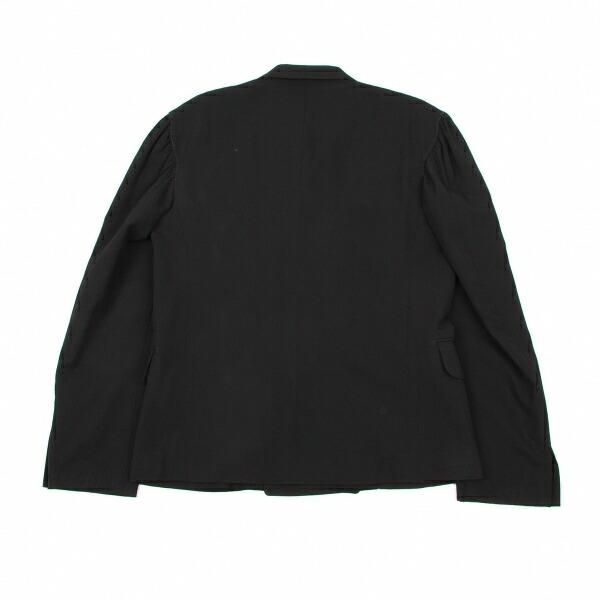 ヨウジヤマモトプールオムYohji Yamamoto POUR HOMME ウールギャバギャザーアームジャケット 黒L