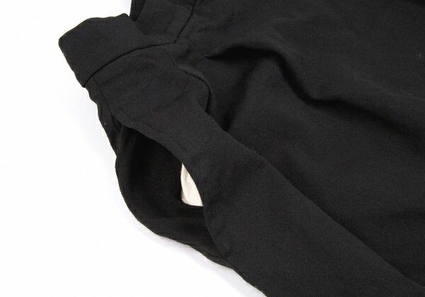 コムデギャルソンCOMME des GARCONS 製品染めポリビッグシルエットパンツ 黒S
