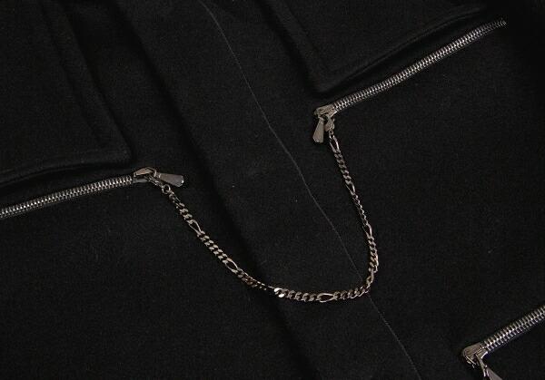 ゴルチエトゥーザパワーオブトゥーGAULTIER2 ジップデザインダッフルコート 黒2