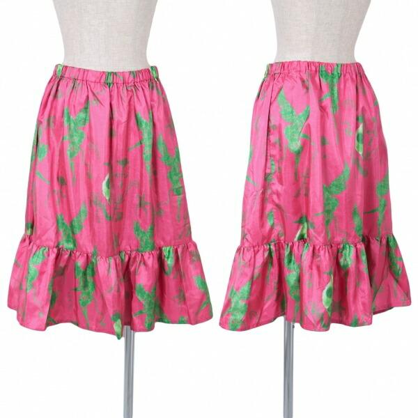 リミフゥLIMI feu ポリプリントスカート ピンク緑S