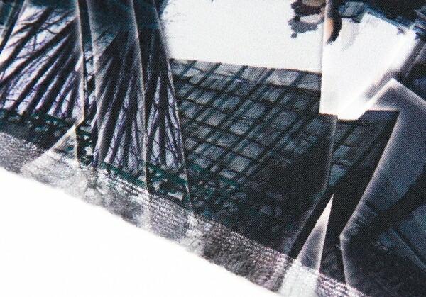 ジャンポールゴルチエオブジェ Jean Paul GAULTIER HOMME objet シルク転写プリントストール 青紫他