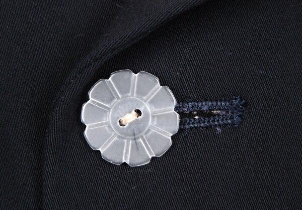 ヨウジヤマモト プールオム Yohji Yamamoto POUR HOMME レーヨンクリア菊ボタンジャケット 紺S