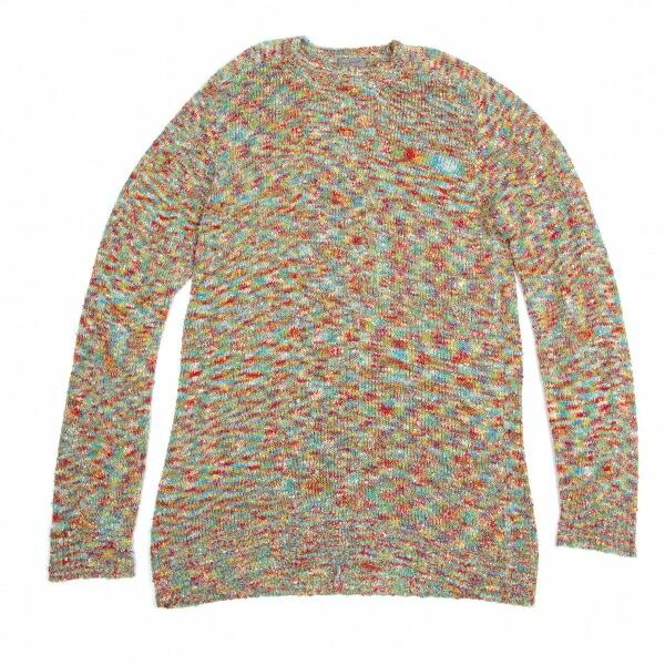 ヨウジヤマモト プールオムYohji Yamamoto POUR HOMME ミックスカラフルニットロングビッグセーター マルチM