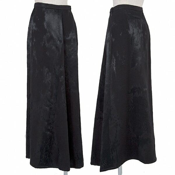 ジャンポールゴルチエ クラシックJean Paul GAULTIER CLASSIQUE ムラ織りウールレーヨンスカート 黒40