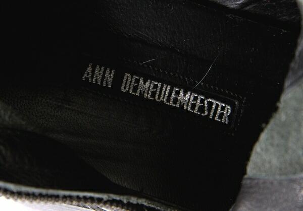 アンドゥムルメステールANN DEMEULEMEESTER ニーハイジップブーツ 黒38(24位)