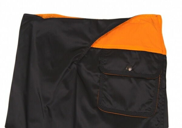 ジュンヤワタナベコムデギャルソンJUNYA WATANABE COMME des GARCONS タンカーデザインセットアップ 黒オレンジM位/S