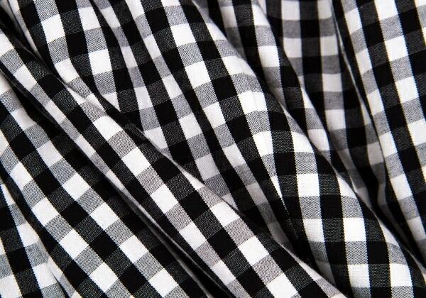ジュンヤワタナベコムデギャルソンJUNYA WATANABE COMME des GARCONS ギンガムチェックパラシュートワンピース 黒白S