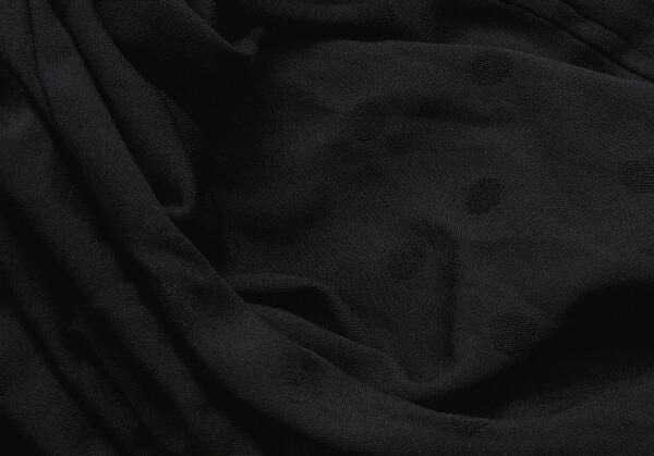 コムコム コムデギャルソンCOMME des GARCONS ポリ製品染めドット柄セットアップ 黒S/XS