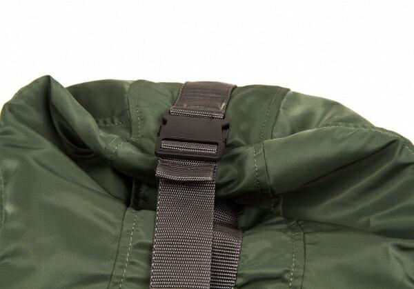新品ですが…!ヨウジヤマモト ファム Yohji Yamamoto FEMME リュックデザインパーカーナイロンロングシャツ カーキ1
