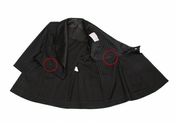 ヨウジヤマモトファムYohji Yamamoto FEMME キルティングカラーデザインジャケット 黒S