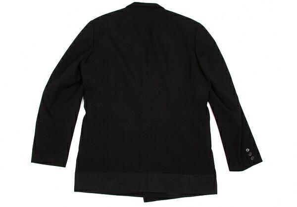 ヨウジヤマモトプールオムYohji Yamamoto pour homme切替デザインカシミヤ混ウールジャケット 黒3