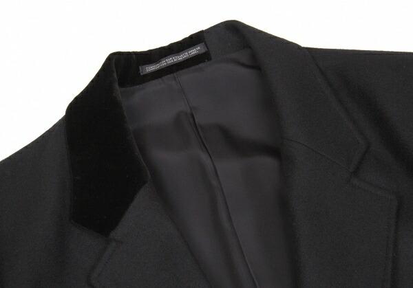 新品!ヨウジヤマモト プールオムYohji Yamamoto POUR HOMME サムライシルエットパッチジャケット 黒白2