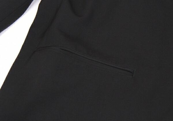 ヨウジヤマモトプールオムYohji Yamamoto POUR HOMME ラペル切替ダブルブレストジャケット 黒S