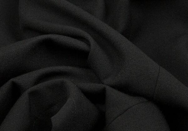 ヘルムートラングHELMUTLANG レザーカラーウールギャバダブルコート 黒50