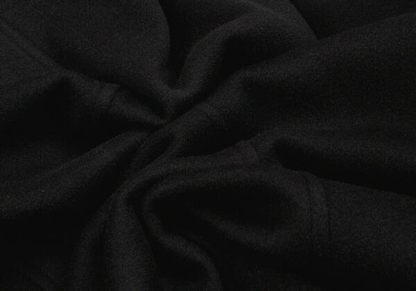 ヨウジヤマモトプールオムYohji Yamamoto POUR HOMME ヘビーメルトンダブルコート 黒M