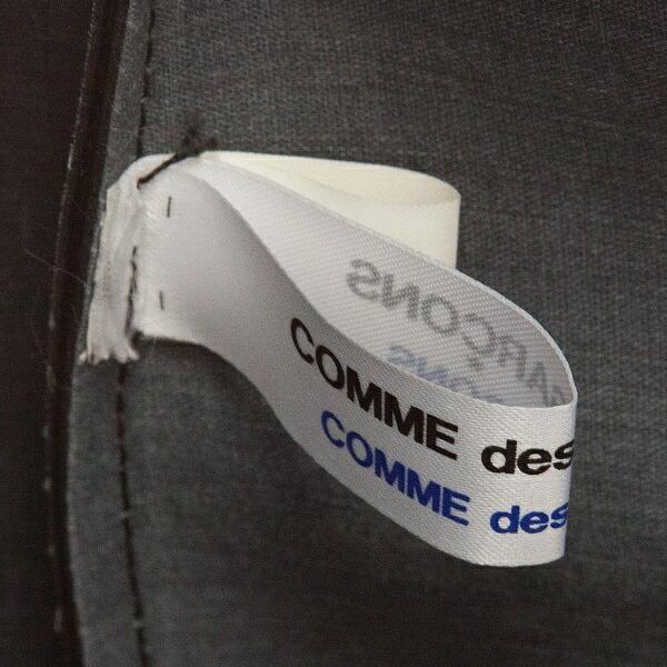 コムコム コムデギャルソンCOMME des GARCONS ビニールハンドバッグ 黒