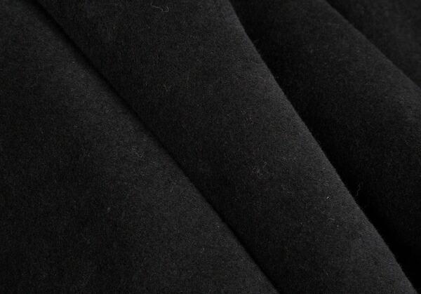 コムコム コムデギャルソンCOMME des GARCONS アンゴラウール変形コート 黒S