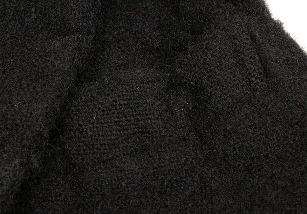 コムデギャルソンCOMME des GARCONS ウール縮絨フリル装飾エプロンベスト 黒SS