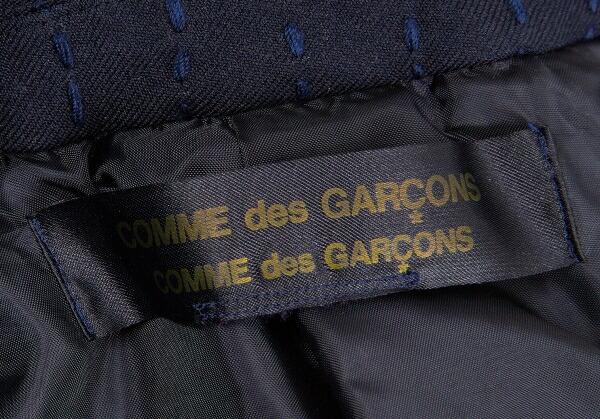 コムコム コムデギャルソンCOMME des GARCONS 製品染め刺し子ジャケット 紺M位
