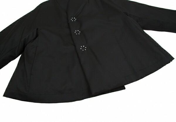 コムコム コムデギャルソンCOMME des GARCONS ノーカラー中綿ルーズジャケット 黒XS