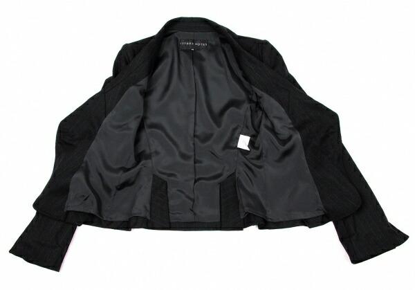 シトラスノーツCITRUS NOTES ワイドラペルギャザージャケット チャコール紺40