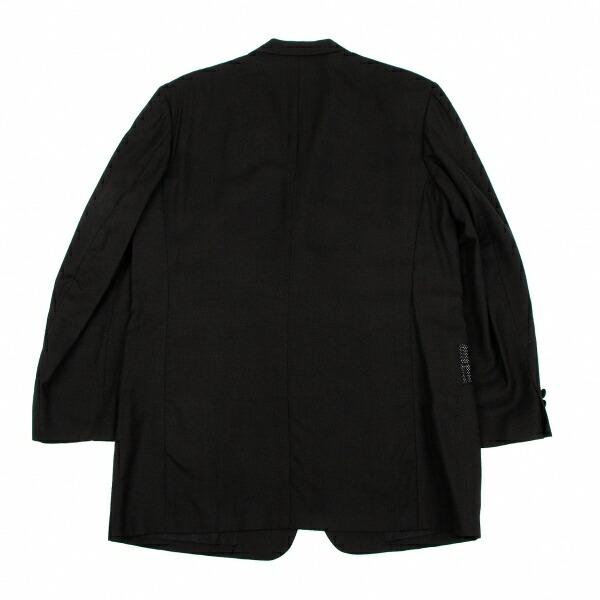 ヨウジヤマモト プールオムYohji Yamamoto POUR HOMME ウールレーヨンメッシュ切替ジャケット 黒白2