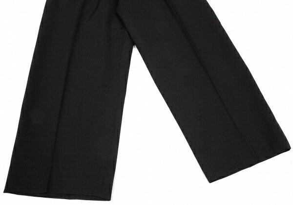ヨウジヤマモト プールオムYohji Yamamoto POUR HOMME ウールギャバパイピングステンカラーセットアップスーツ 黒白2