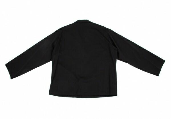 ヨウジヤマモト プールオムYohji Yamamoto POUR HOMME ウールギャバジャケット 黒M